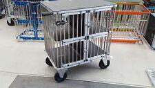 "Titan Large 4 Berth Aluminium Dog Show Trolley with 8"" All Terrain Wheels"