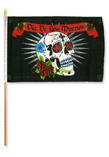 """12x18 12""""x18"""" Wholesale Lot of 6 Dia De Los Muertos Day of the Dead Stick Flag"""