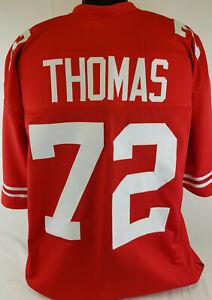 Joe Thomas Unsigned Custom Sewn Red College Style Football Jersey Size XL