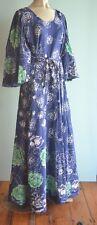Women's Vintage Maxi Dress bat  wing sleeves size 14