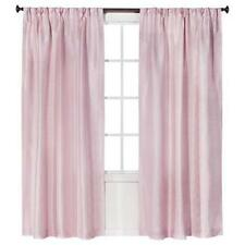 "Simply Shabby Chic Faux Pink Silk Lined Pleated Window Panel  84"" L"