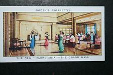 RMS MAURETANIA  Cunard White Star Liner   Grand Hall  Original Vintage Card