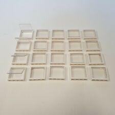 LEGO® 20 Stück Fenster mit Glas 1 x 4 x 3 Weiß Transparent #60594 #60603 Z-31