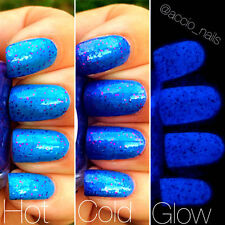 Fairy Dust Blue to Purple Color Changing AND Blue Glow in the Dark Nail Polish