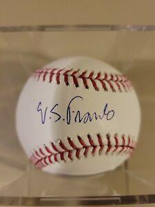 Wander Franco Signed Baseball Auto Tampa Bay Rays Official MLB Old Signature RC