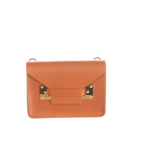 RRP €515 SOPHIE HULME Leather Flap Crossbody Bag Structured HANDCRAFTED in Italy