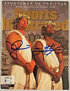Mark McGwire and Sammy Sosa Signed Sports Illustrated Magazine Beckett Witnessed