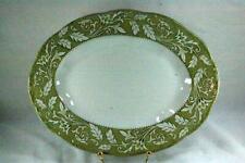 """J & G Meakin Renaissance Green Oval Platter 12"""""""