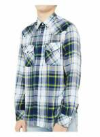 Diesel S-East-Long-F Shirt - White Blue
