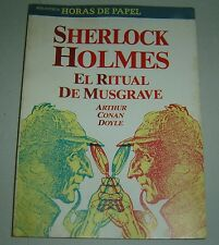 Sherlock Holmes Argentina 1996 Pulp El Ritual de Musgrave Arthur Conan Doyle