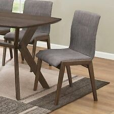 McBride Grey Fabric Upholstered Dining Side Chair by Coaster 107192- Set of 2
