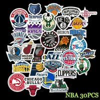 NBA Basketball 30pcs Teams Logo Stickers Decals Vinyl Skateboard/Luggage/Laptop