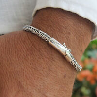 925 Solid Sterling Silver Bracelet Thin Bangle Men Women Size 7 8.5 9 VY Jewelry