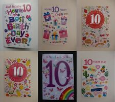 Girls 10th Birthday Card Simon Elvin Age 10 Choice of Designs