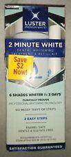 Luster Premium White 2 Minute Dental Whitening, Treatment & Refill Kit 02/2021