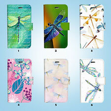 Dragonfly Flip Wallet Case Cover Samsung Galaxy S3 4 5 6 7 8 Edge Note Plus 029