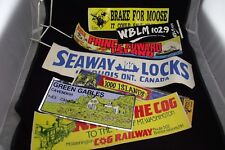 VINTAGE BUMPER STICKERS  PEI GREEN GABLES 1000 ISLANDS RIDE THE COG NH ETC.