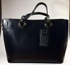 New Silver Rose Collection Black Satchel Leather Shoulder Bag