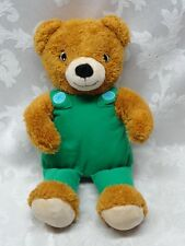 "Corduroy Bear 14"" Plush Toy by Yottoy Green Overalls Caramel Color EUC Soft"