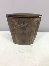 Chinese Antique Wood Metal Hinged Top Tobacco Case
