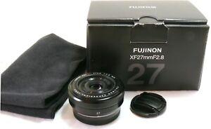 Fujifilm Fuji Fujinon XF 27mm f/2.8 Super EBC lens black, boxed MINT #38325
