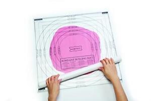 Fondant Rolling Work Mat Measurements Icing Sugar Cake Non Stick Transparent X2