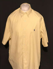 Ralph Lauren Men's Shirt Yellow Check 'Blake' XXL 2XL 100% Cotton S/S Marks