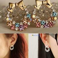 1pair Fashion Women Lady Elegant Crystal Rhinestone Ear Stud Earrings Jewelry ZH
