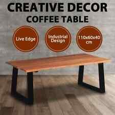 vidaXL Solid Acacia Wood Coffee Table Couch Side Cafe Industrial Vintage Retro