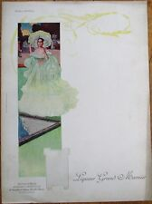 Grand Marnier 1910 Art Nouveau French Advertising Menu: Duchesse d'Orleans