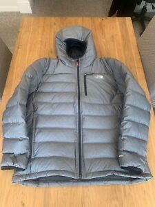 THE NORTH FACE ACONCAGUA 550 DOWN FILL PUFFER ZIP JACKET GREY SIZE  XXL