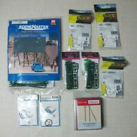 AUHAGEN VIESSMANN FALLER WALTHERS SCENE MASTER LOT OF 9 HO KITS AND PIECES BP