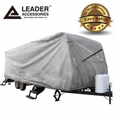 New Easy Setup 22'-24' Travel Trailer RV Cover Fits Camper with Assist Pole
