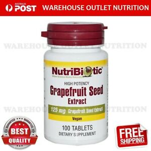 Grapefruit Seed Extract By Nutribiotic 125mg 100 Vegan Tablets