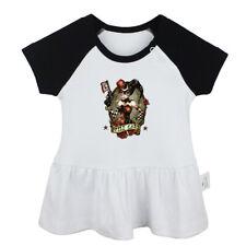 The clown JOKER Girl Bang wild card Newborn Baby Dress Toddler Cotton Clothes