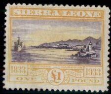 SIERRA LEONE #165, £1 Harbor, og, LH, VF, Scott $650.00