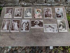 c1900's Vintage 12 x Postcards - Edwardian Actress and Singer Miss Phyllis Dare