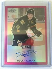2016-17 Leaf Metal Nolan Patrick Auto /10 Pink Prismatic SP RC 16/17