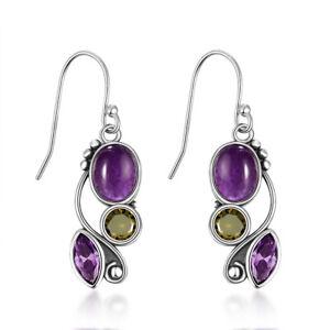 S925 Silver Wedding Blue Drop Earrings Fashion Women Jewelry Girl's Gifts