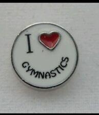 I Love Gymnastics Floating Charm fits Living Owl Glass Lockets