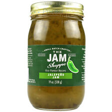 The Jam Shoppe All Natural Jalapeno Jam 19 oz. Jar Handcraft Real Fruit Recipe