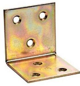 "Galvanized Corner Brace ""Yellow"" 40x40x40x2mm Angle Bracket Timber Joints KS2"
