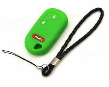 Green Silicone Case Cover For Honda Accord Civic CRV Pilot Remote Key 2 3 Button