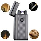 Dual Arc Electric USB Lighter Plasma Windproof Flameless Cigarette Rechargeable