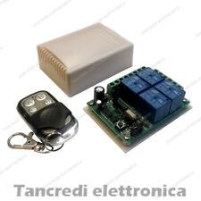 Scheda Ricevente Ricevitore 12V 433 Mhz 4 Relè Canali con Telecomando Centralina