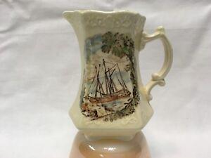 "RARE Royal Staffordshire Ceramics Safe Harbour Creamer/Pitcher 4.25""h     d"