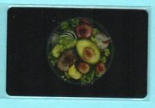 CHIPOTLE Lenticular Avocado Salad / Guacamole 2015 Gift Card ( $0 )
