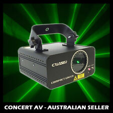CR COMPACT LASER - 100mW GREEN, DJ & PARTY LIGHT SHOW, DMX, AUTO, SOUND ACTIVE,