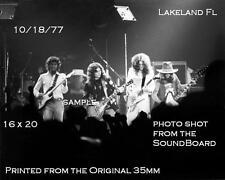 Lynyrd Skynyrd 1977 16 X 20 B&W Concert Photo Lakeland,Florida Freebird