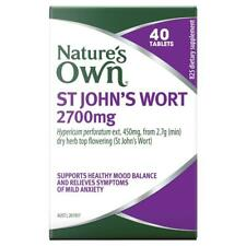 Nature's Own St Johns Wort 2700mg 40 Tablets Novalang